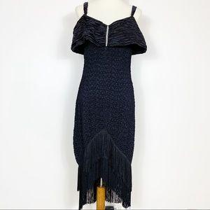 Vintage Design Team 4-U Black Flapper Dress Large